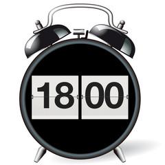Wecker retro - Uhrzeit 18:00