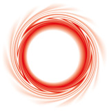 Vector background. Abstract round frame of red stripes