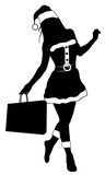 christmas woman silhouette