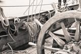 Fototapeta starodawny - niebieski - Jacht