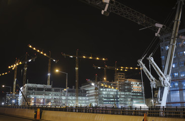Building site by night