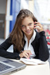Beauty student in campus