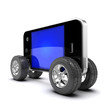 Smartphone with auto wheels