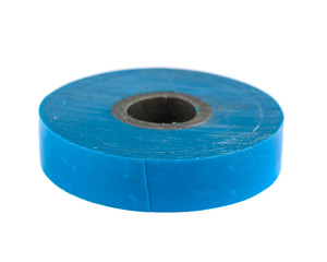 Roll of blue insulating tape