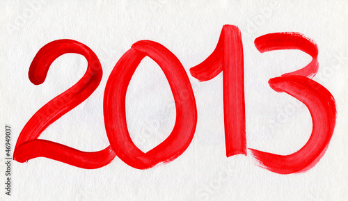 New Year 2013 Watercolor Card