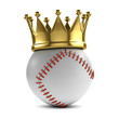 Baseball gold  crown