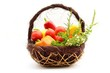 Basket of bio vegetables