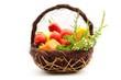 Basket of bio vegetables