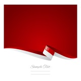 Abstract color background Singaporean flag vector