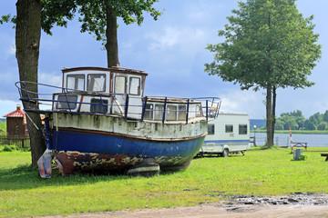 Old vintage boat