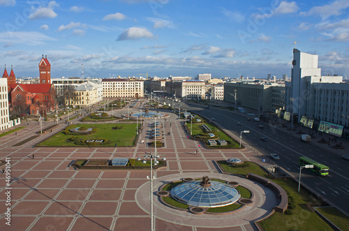 Minsk central square view, Belarus
