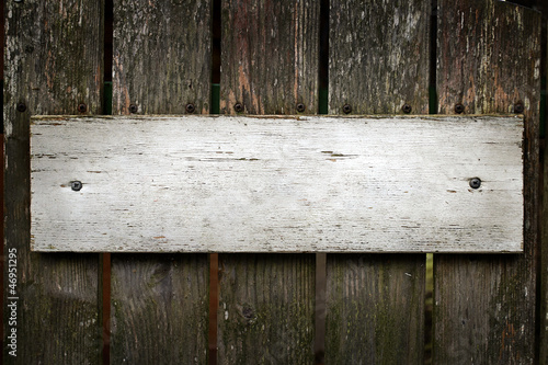 Blank old wooden sign