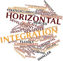 Word cloud for Horizontal integration