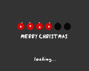 merry christmas ball concept