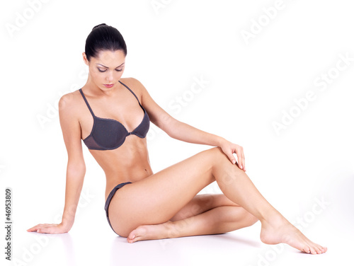 Beautiful woman with perfect slim body