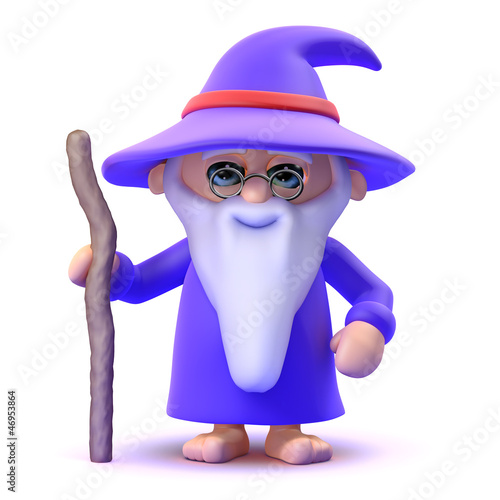 Wizard stands alert ready to cast healing spells