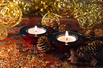 Weihnachtliche Teelichte