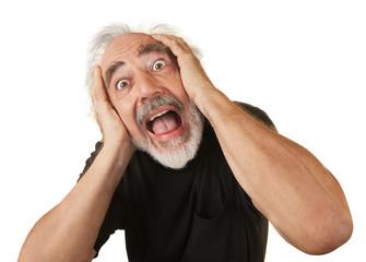 Screaming Older Man