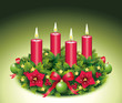 Vierter Advent / Adventskranz