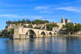 Avignon Bridge with Popes Palace, Pont Saint-Bénezet, Provence, - 46956002