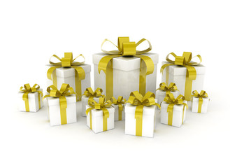 Gift boxes Yellow ribbon