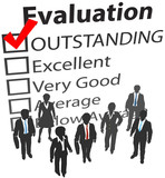 Business team best human resources evaluation