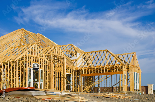 New home construction framing - 46956602