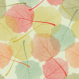 Seamless colors leaves pattern