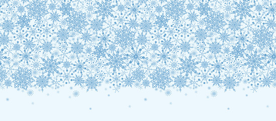 vector Colorful Snowflake Texture Horizontal Seamless Pattern
