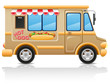 car hot dog fast food illustration