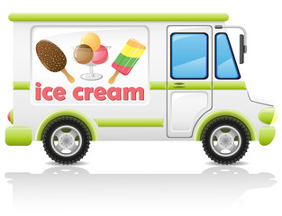 car carrying ice cream illustration