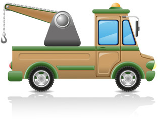 car tow illustration
