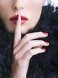 Silenzio - rossetto rosso