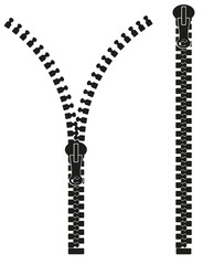 zipper silhouette illustration