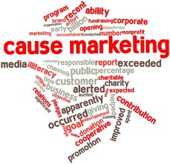 Word cloud for Cause marketing