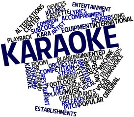 Word cloud for Karaoke