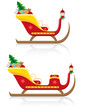 christmas sleigh of santa claus with gifts illustration