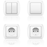 electric socket and switch illustration