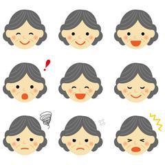 おばあさん 表情