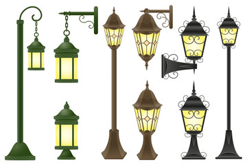 set streetlight illustration