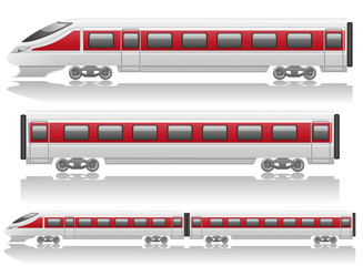 speed train locomotive and wagon illustration