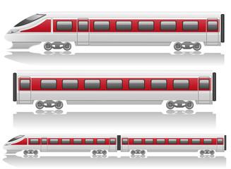 speed train locomotive and wagon illustration