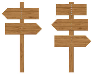 wooden boards signs illustration