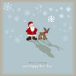 Weihnachtsmann & Rentier VINTAGE RETRO Vektor