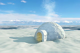 Nordic landscape with igloo - 46962097