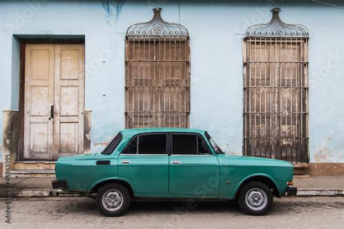 Keuken foto achterwand Cubaanse oldtimers Cuba