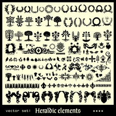 heraldic elements floral