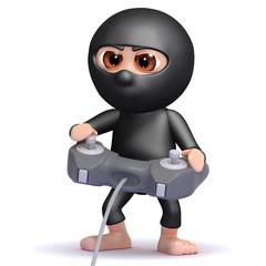 Ninja plays videogames with stealth