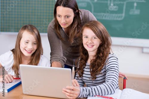 unterricht mit laptop
