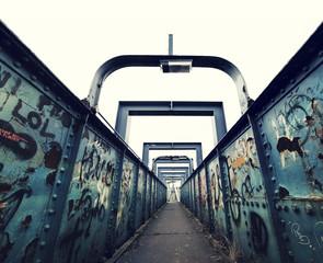 graffiti foot bridge